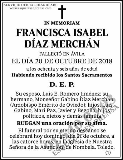 Francisca Isabel Díaz Merchán